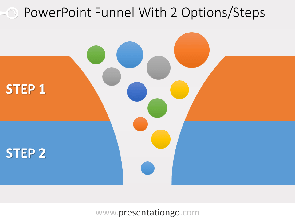 Free 2 Stage Funnel Graphics for PowerPoint