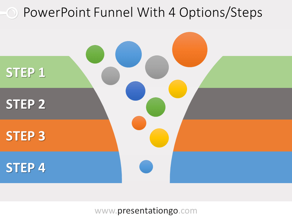 Free 4 Stage Funnel Graphics for PowerPoint