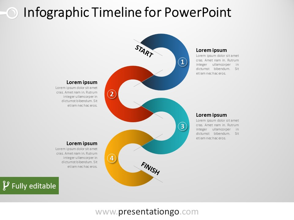 Free Vertical Timeline Infographic for PowerPoint