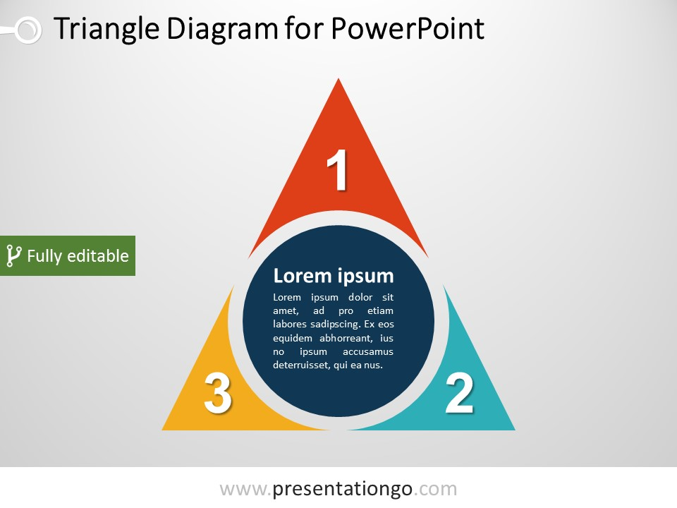 Free Triangle PowerPoint Diagram