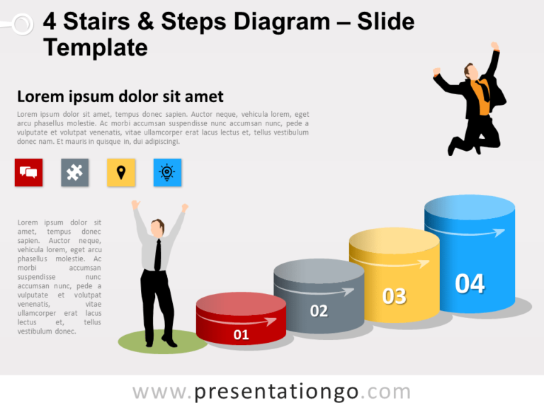 Free 4 Stairs and Steps Slide Template