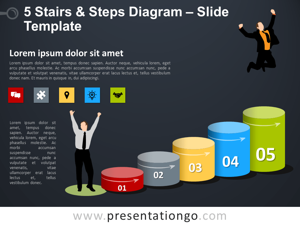 Free 5 Stairs and Steps Template