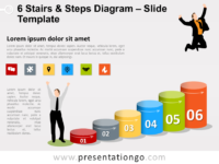 Free 6 Stairs and Steps Slide Template