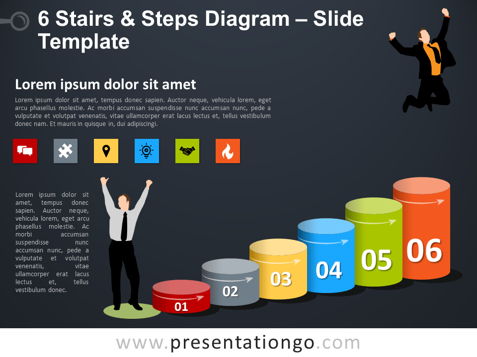 Free 6 Stairs and Steps Template