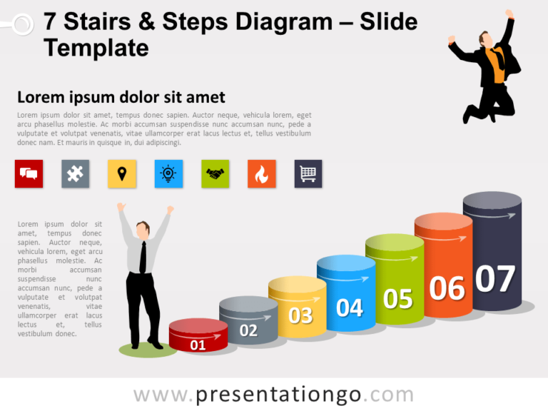 Free 7 Stairs and Steps Slide Template
