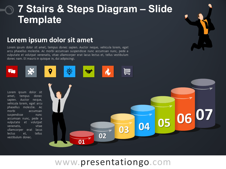 Free 7 Stairs and Steps Template