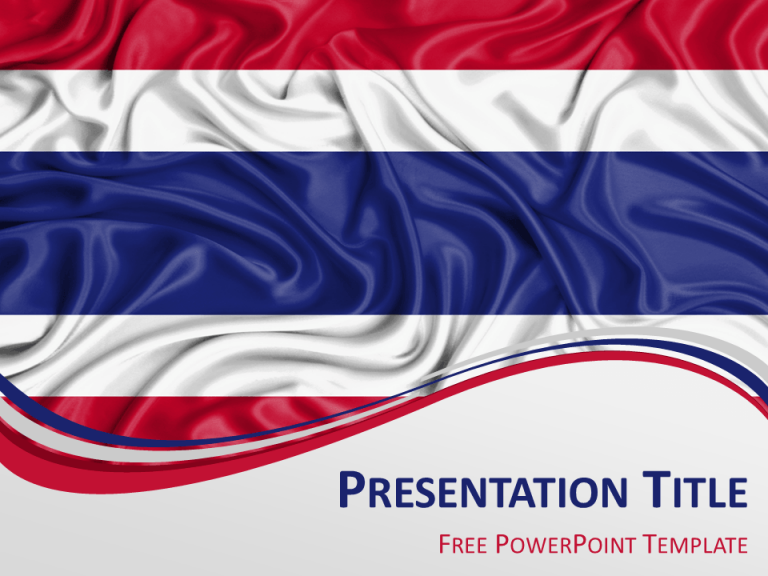 Free PowerPoint template with flag of Thailand background