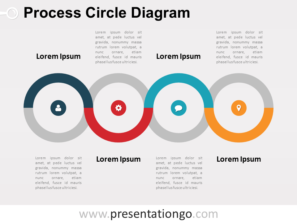 Free Process Circle PowerPoint Diagram