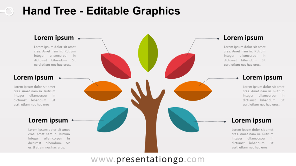 Free Hand Tree PowerPoint Diagram - Widescreen size (16:9)
