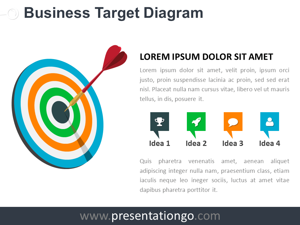 Free Target Business PowerPoint Diagram