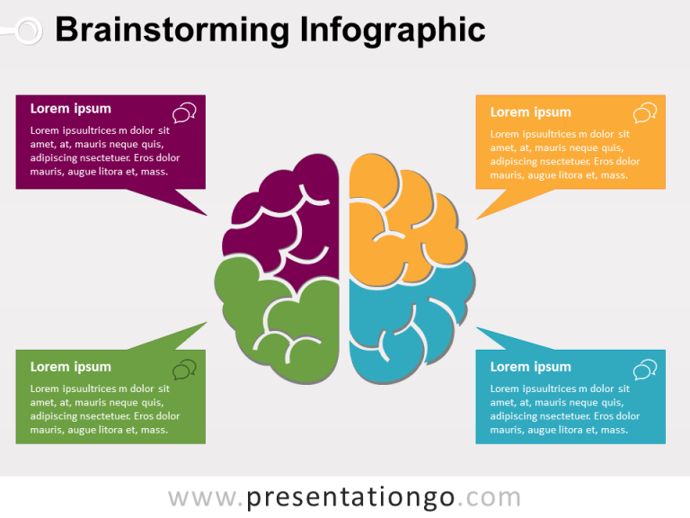 Free Colored Brainstorming PowerPoint Template