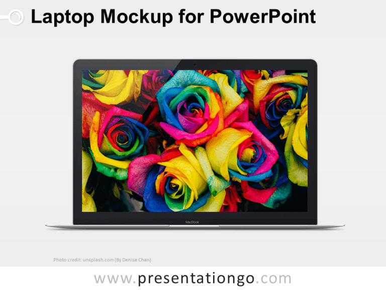 Free Laptop Mockup PowerPoint