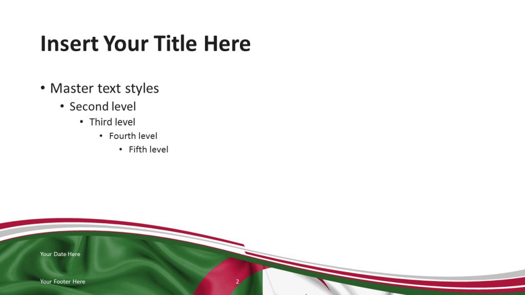 Algeria PowerPoint Template - Content Slide