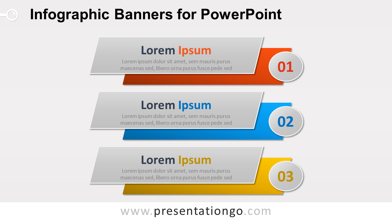 Free Infographic Banners PowerPoint Diagram