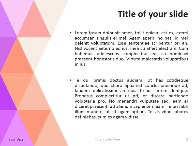 abstract powerpoint template with pastel triangles presentationgo com