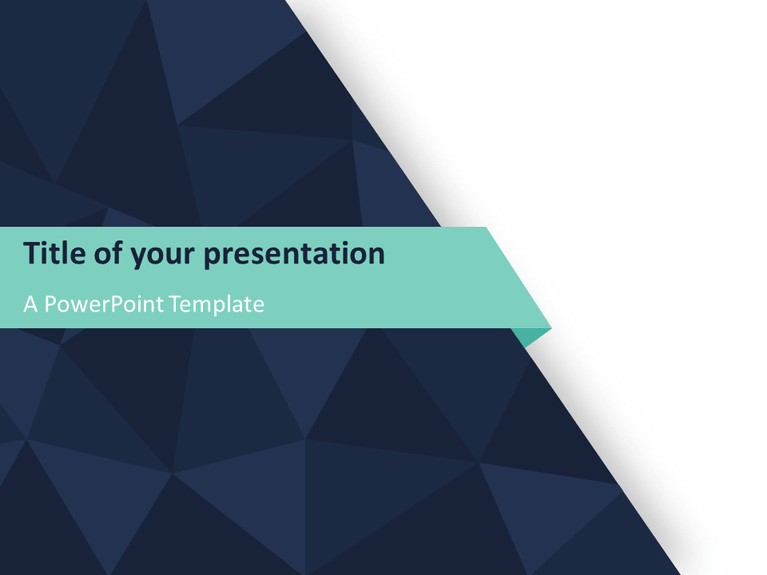 abstract triangle pattern powerpoint template - presentationgo, Modern powerpoint