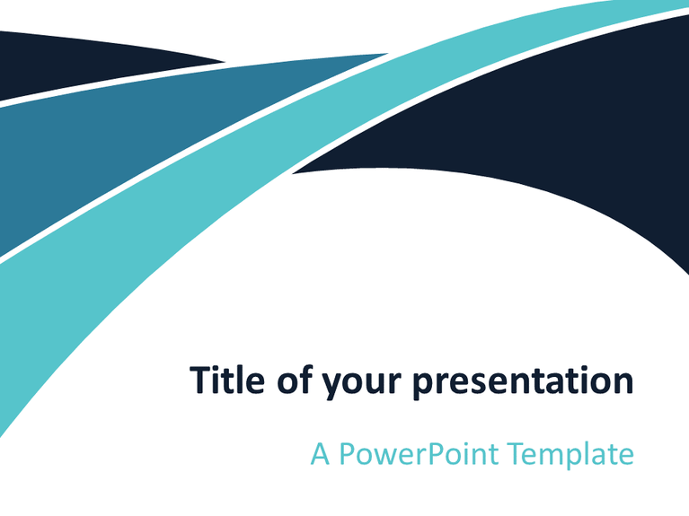blue wave powerpoint template - presentationgo, Blue Presentation Template, Presentation templates