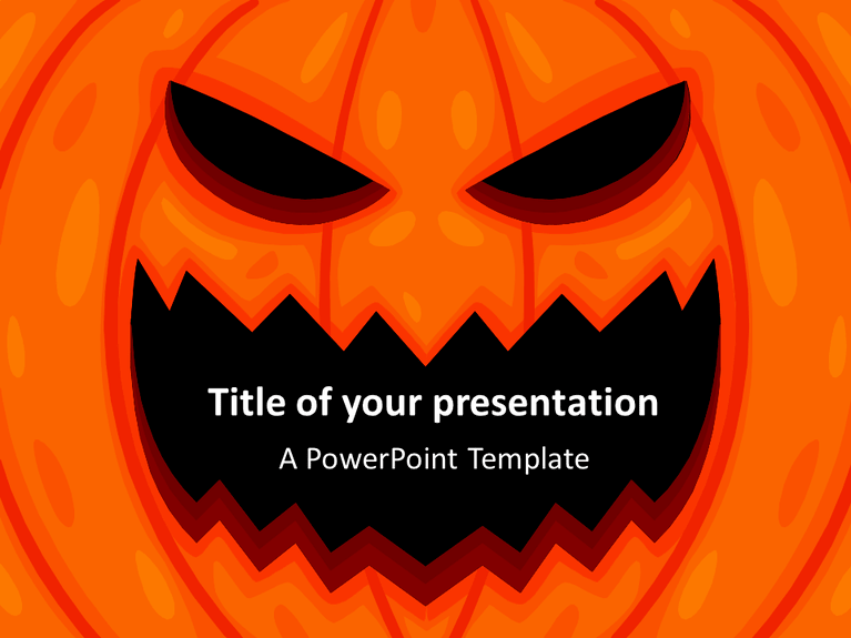 halloween powerpoint template presentationgo com