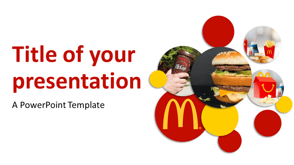 mcdonald's powerpoint template - presentationgo, Modern powerpoint