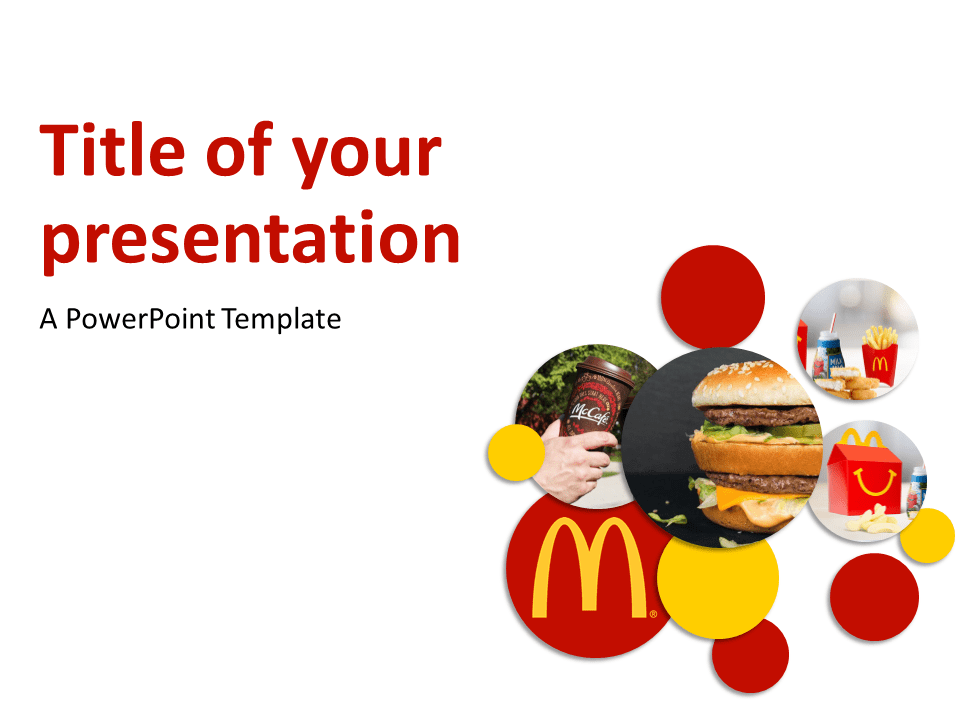 Mcdonald 39 s powerpoint template for American cuisine presentation