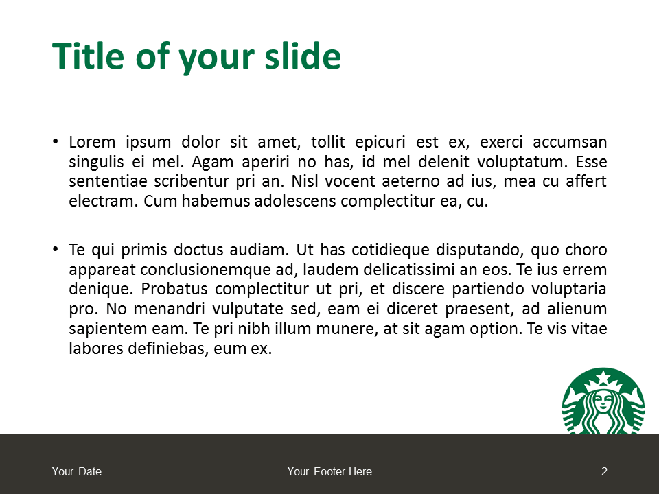 Starbucks PowerPoint - Free Template - Slide 2