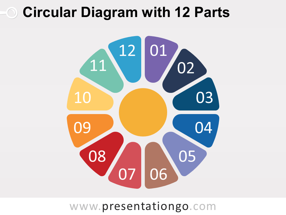 Circular Diagram With 12 Parts For Powerpoint Presentationgo
