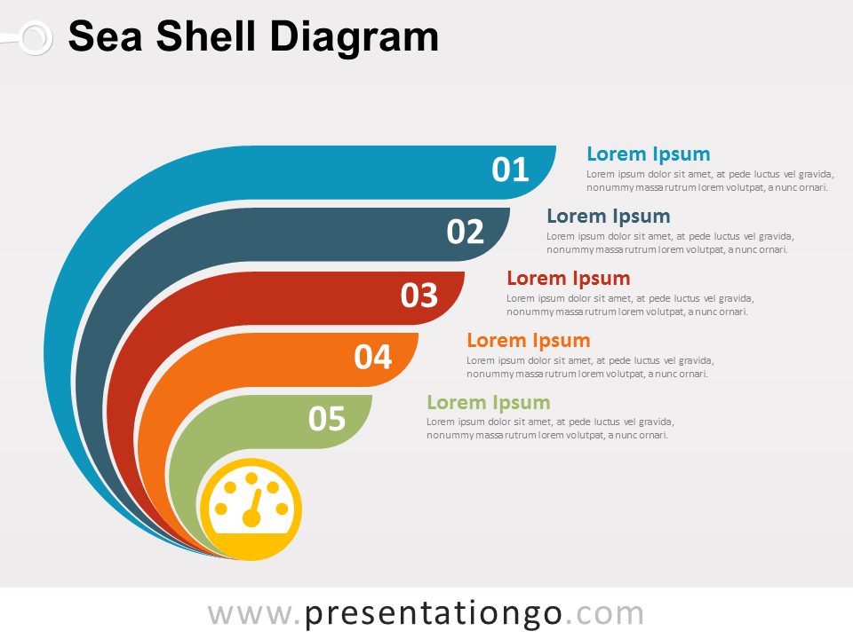 sea shell diagram for powerpoint presentationgo com