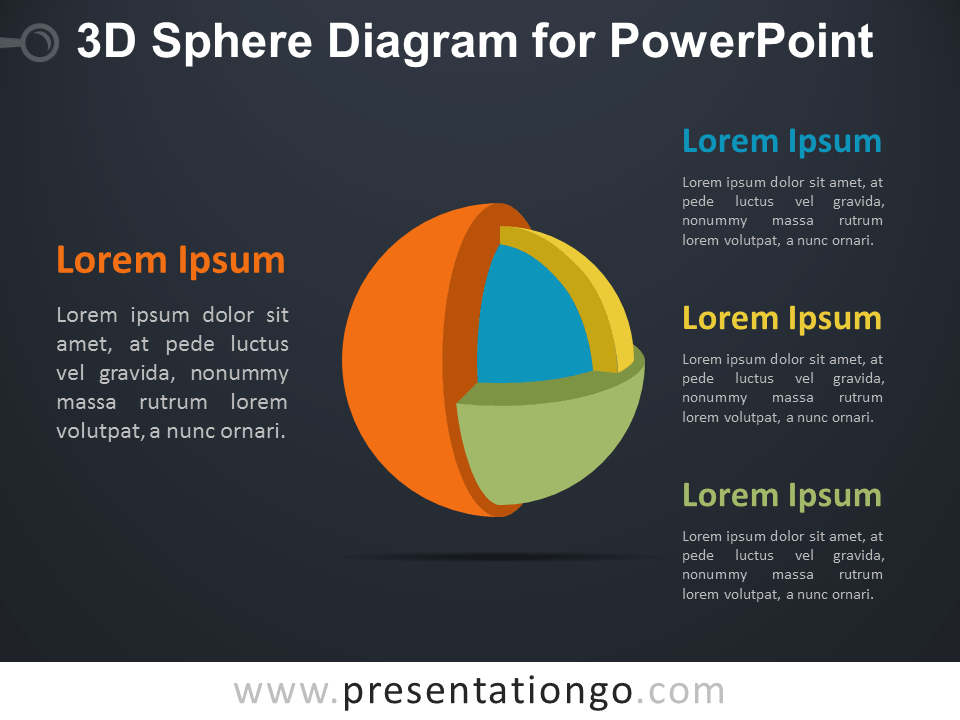 3D Sphere for PowerPoint - Dark Background