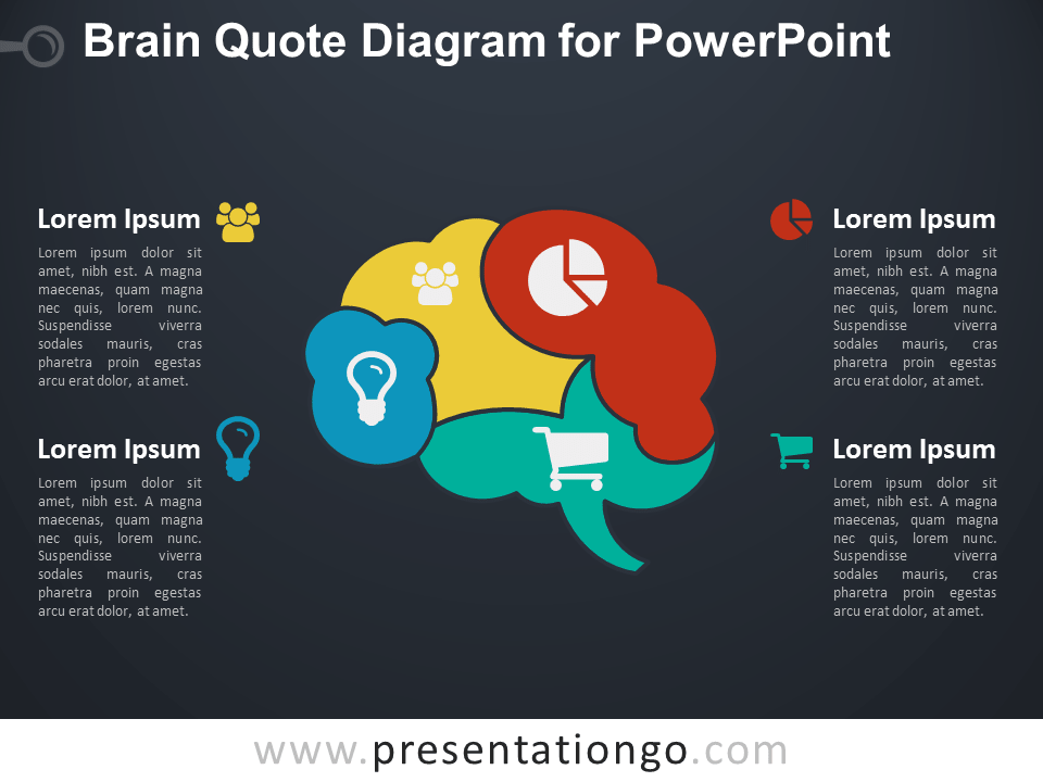 Brain Quote for PowerPoint - Dark Background