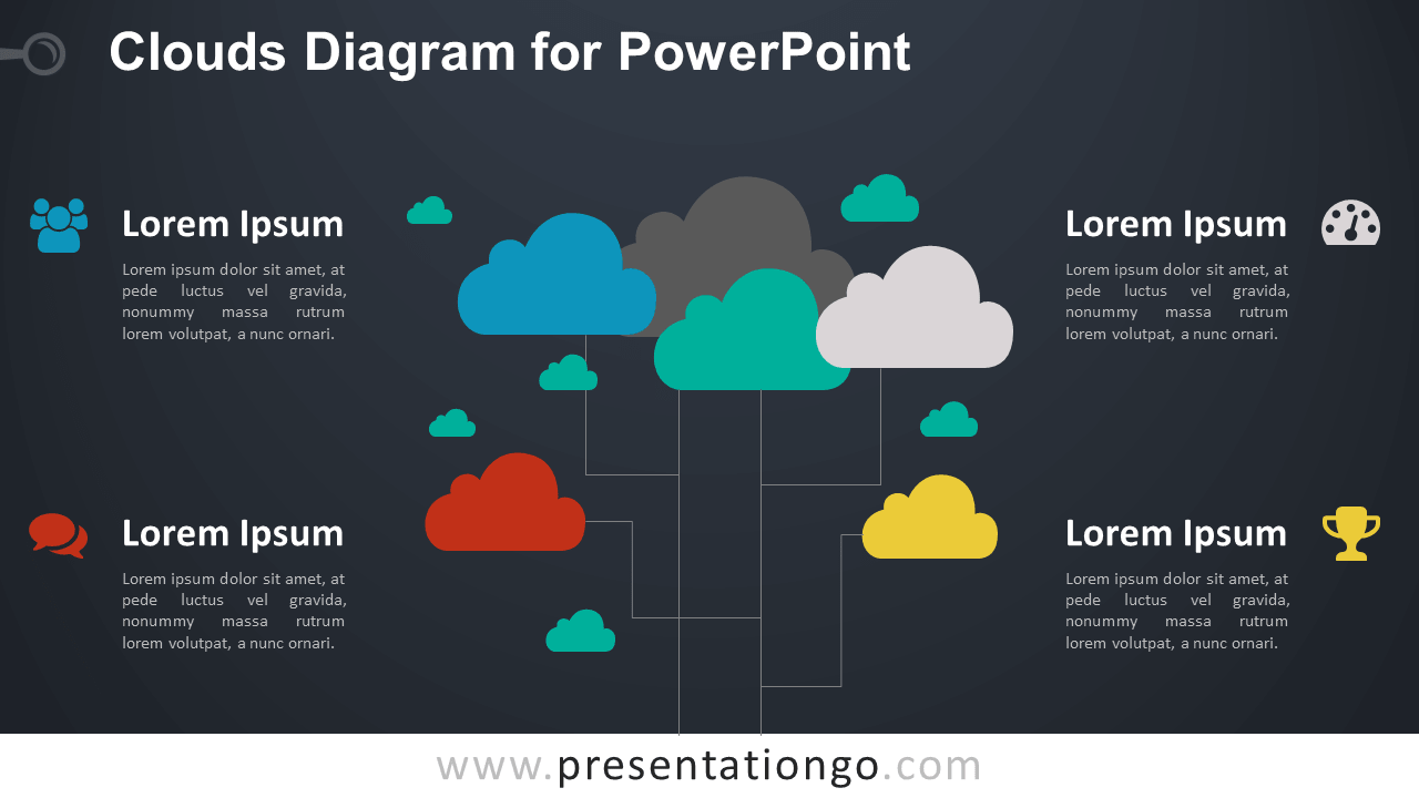 Clouds for PowerPoint - Dark Background