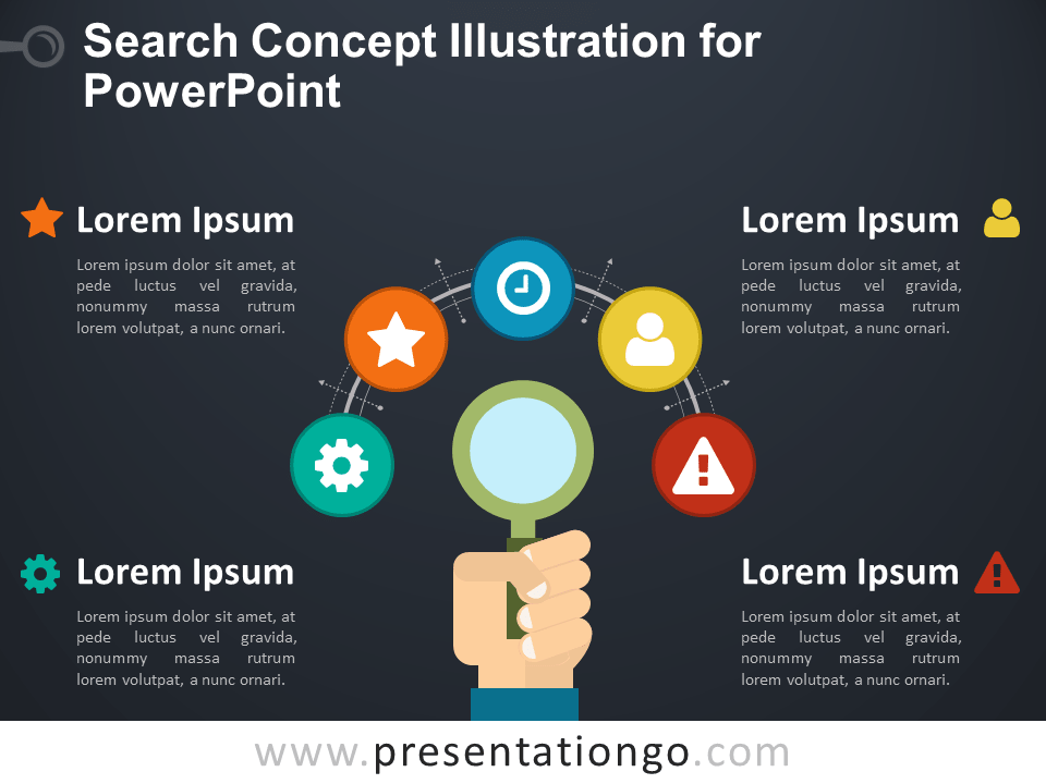 Search Concept for PowerPoint - Dark