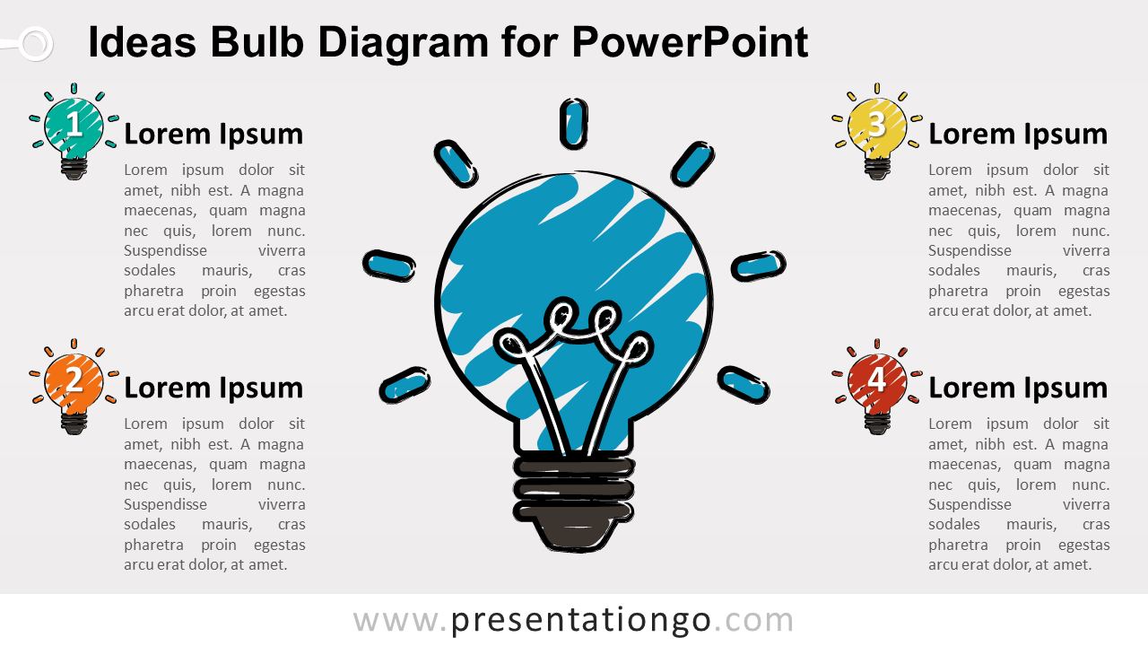 Sketch Light Bulb for PowerPoint