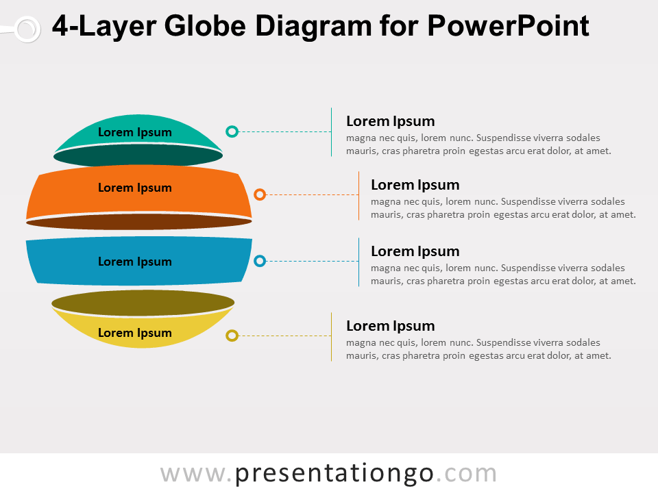4-layer globe diagram for powerpoint