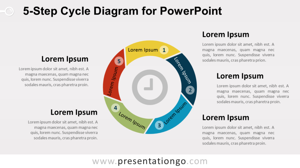 5-Level Cycle Diagram for PowerPoint