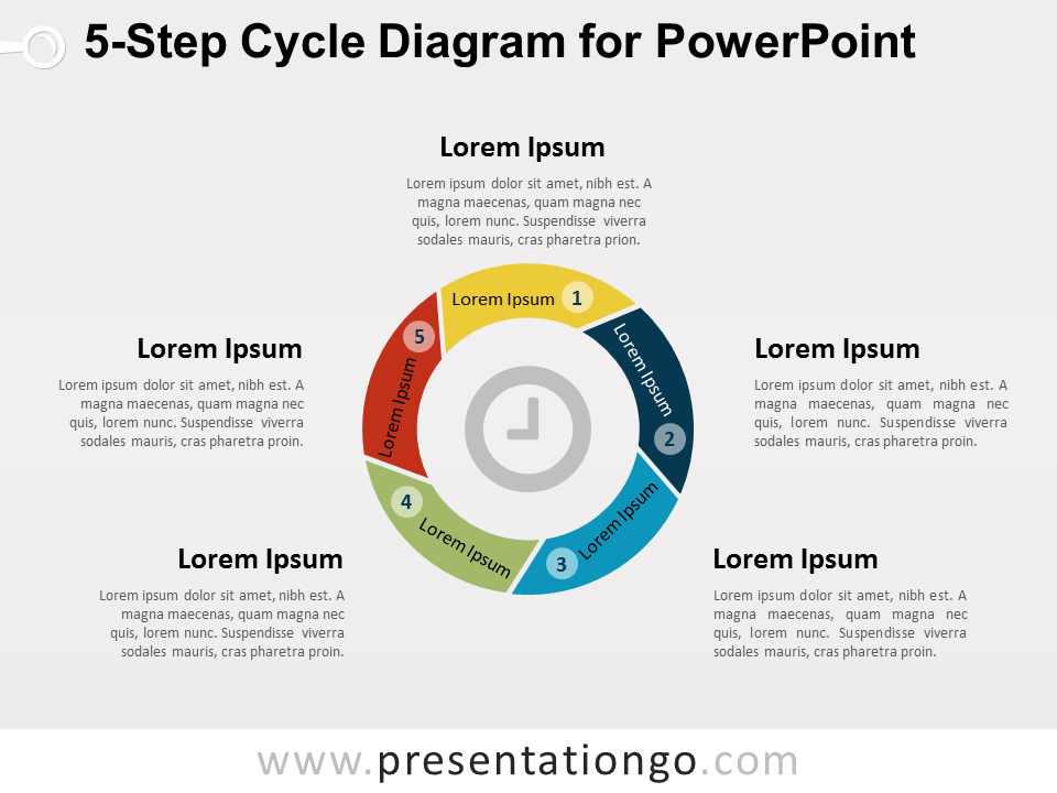 5-Step Cycle Diagram for PowerPoint