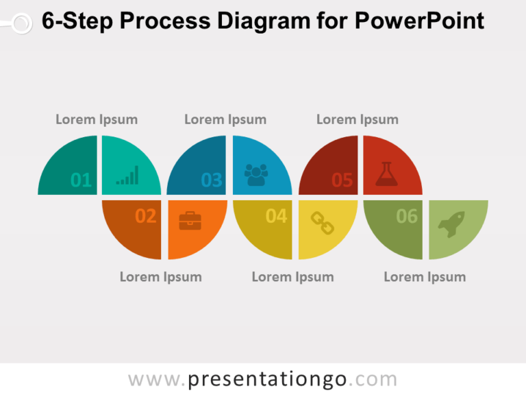 6-Step Process Diagram for PowerPoint