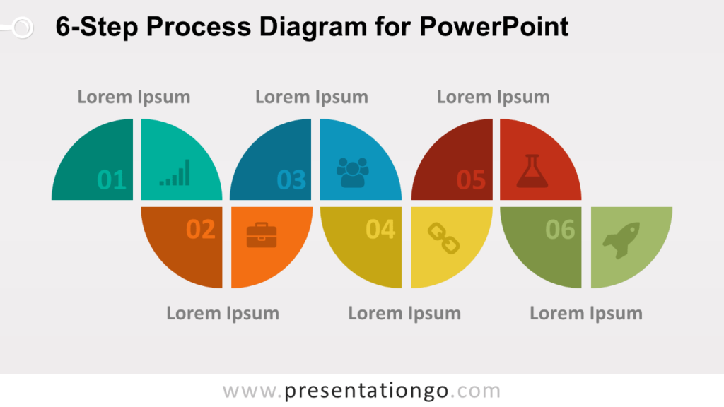 6-Step Process PowerPoint Diagram