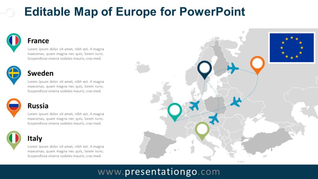 Free Europe (EU) PowerPoint Map
