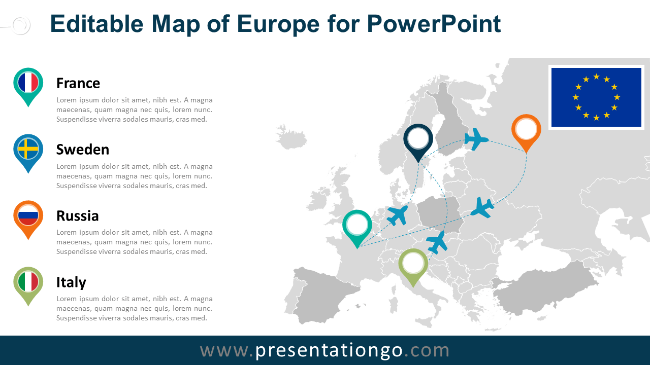 Free Europe (EU) PowerPoint Map