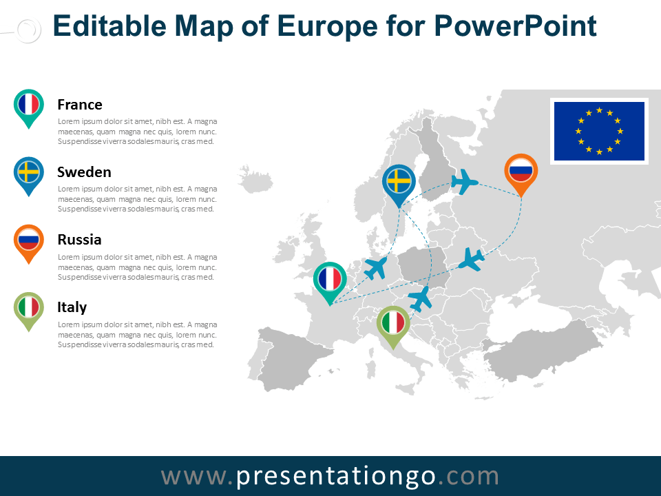 View Larger Image Free Europe PowerPoint Map ...
