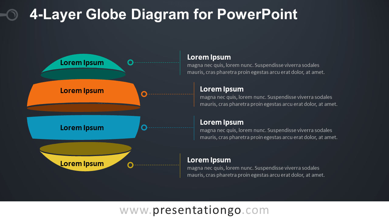 Globe Diagram for PowerPoint - Dark Background
