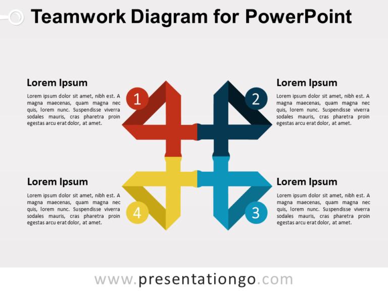 Teamwork Diagram for PowerPoint