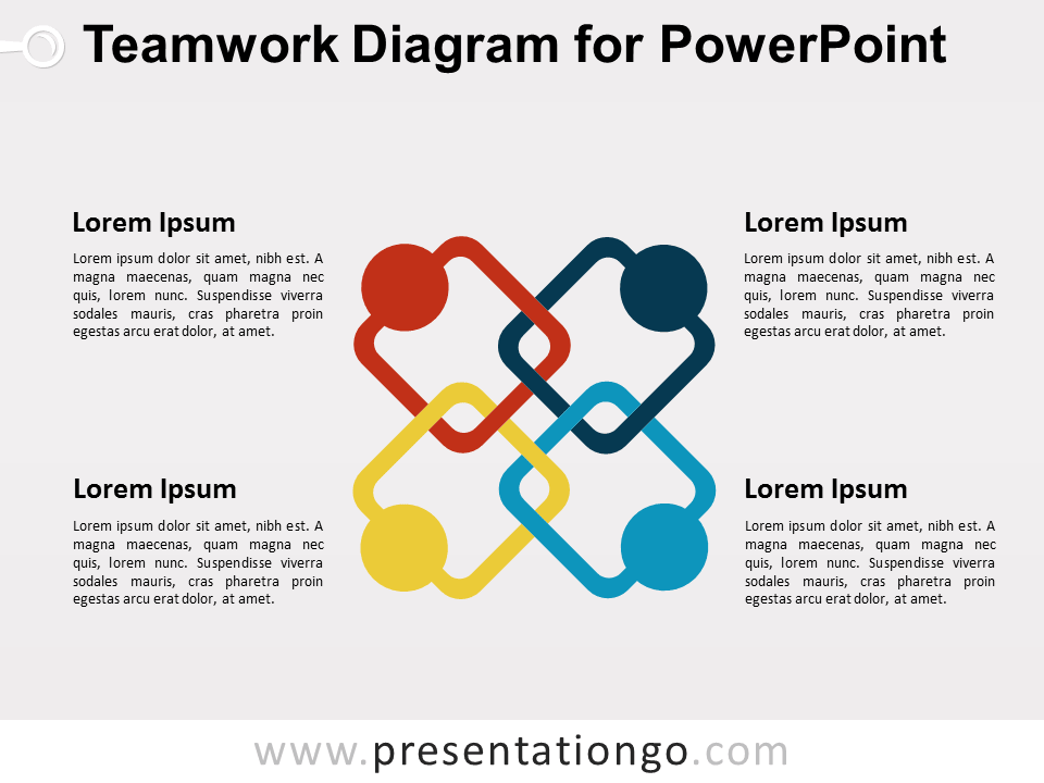 Free Teamwork PowerPoint Diagram