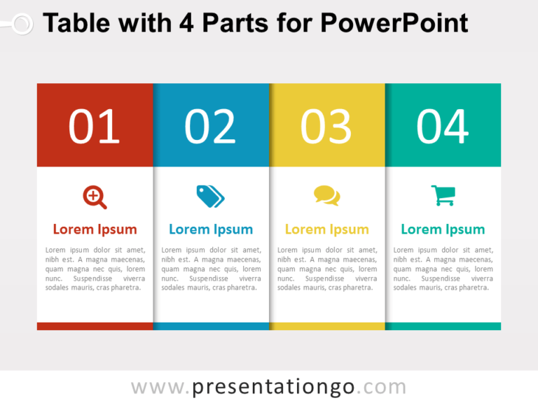 Free 4-Part Table for PowerPoint