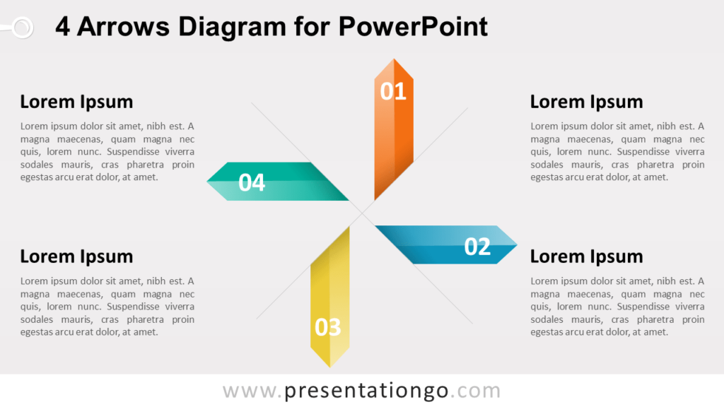 4 Arrows Diagram for PowerPoint Template
