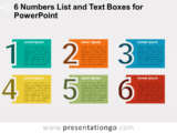 6 Numbers List with Text Boxes for PowerPoint