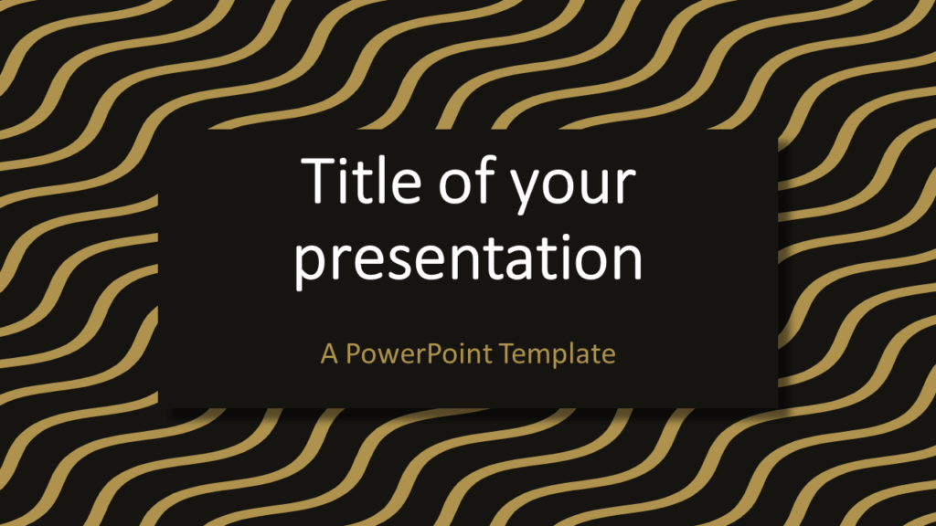 Brown Gold Wavy Pattern Abstract PowerPoint Template