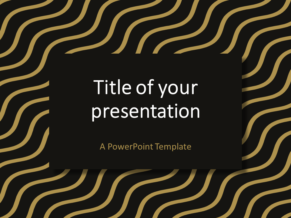 Brown Gold Wavy Pattern PowerPoint Template