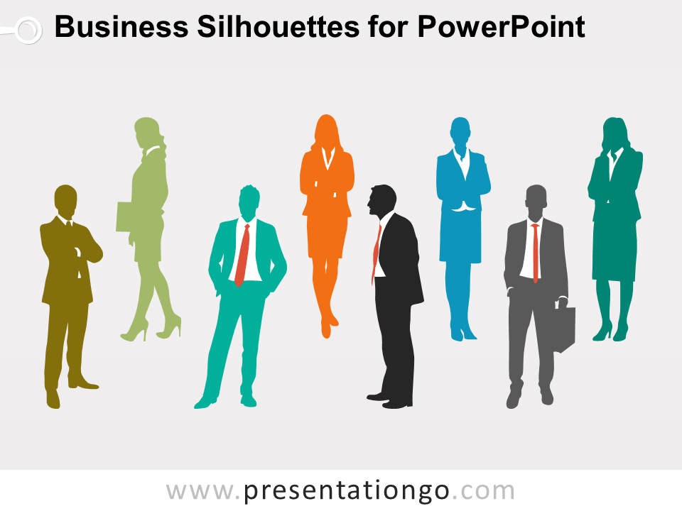 Business People Silhouettes for PowerPoint