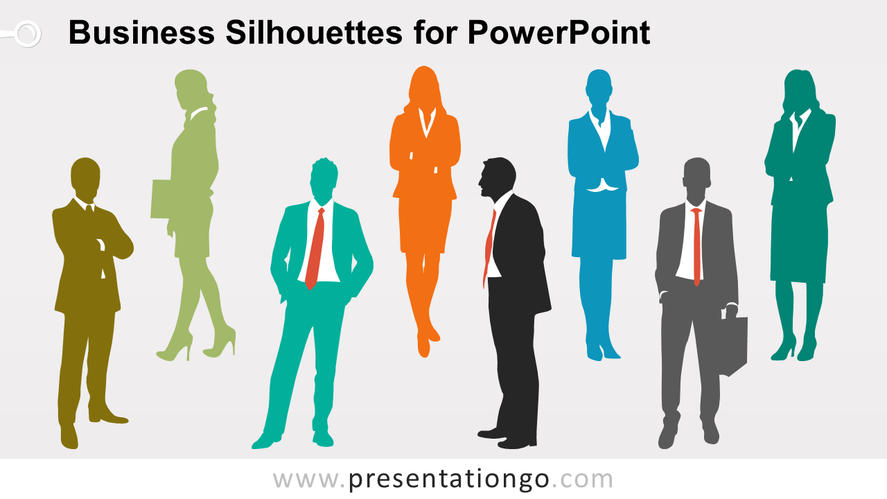 Editable Business People Silhouettes for PowerPoint